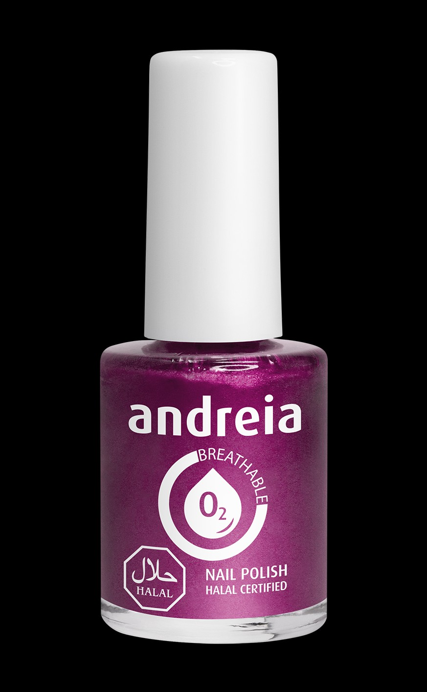 Andreia Professional Ab11 Halal Certified Nail Polish Metallic Pink Andreia Halal Certified Nail Polish Creative Academy